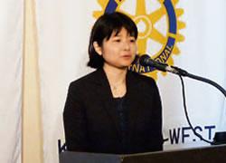 第2331回 2011-12年度ロータリー財団親善奨学生 帰国あいさつ 石田 郁子 さん